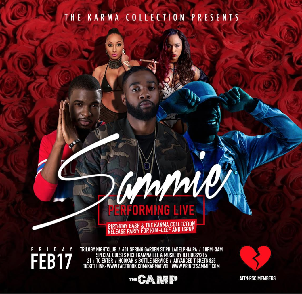 #Philly | Come Vibe Out w/ Kha-leef & Friends at The Official #TheKarmaCollection Release Party w/ Special Guest Sammie