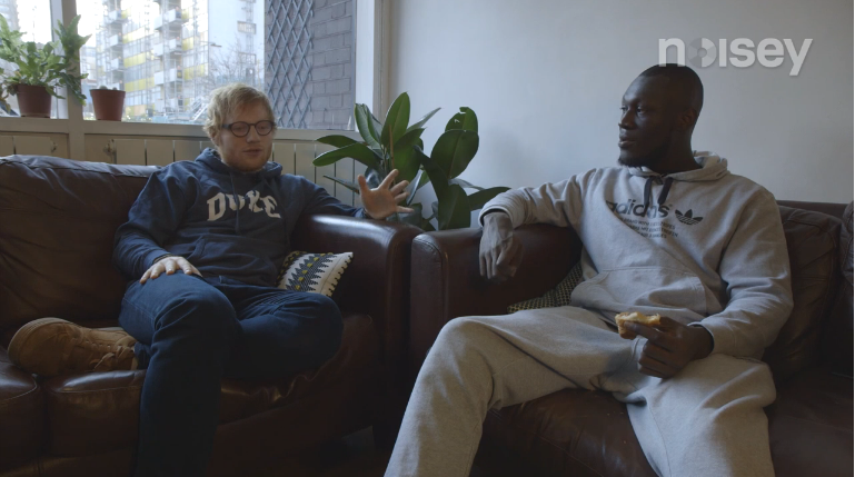 Ed Sheeran and Stormzy Get Personal in One Flavourful Conversation on Noisey