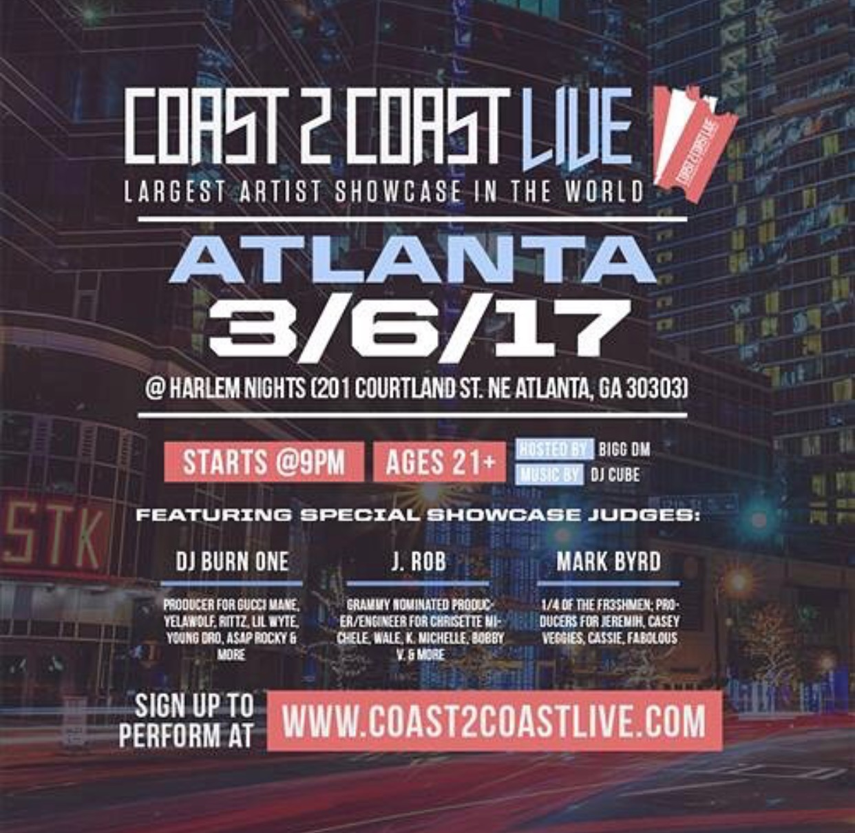 (March 6th) Coast 2 Coast LIVE in Atlanta,GA