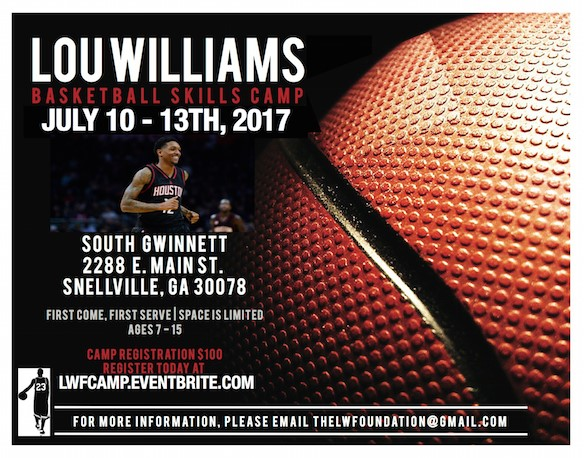 {SUMMER CAMP} NBA Star Lou Williams Hosts Annual Youth Basketball Skills Camp in Atlanta July 10 – 13th