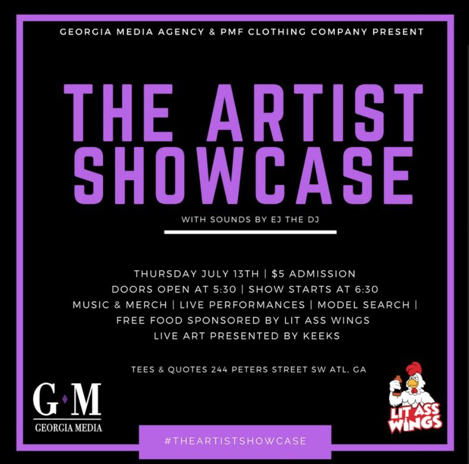 Check Out #TheArtistShowcase This Thursday July 13th