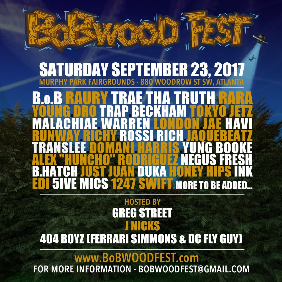 B.o.B Announces Third Annual BoBWOOD Fest In Atlanta September 23rd!