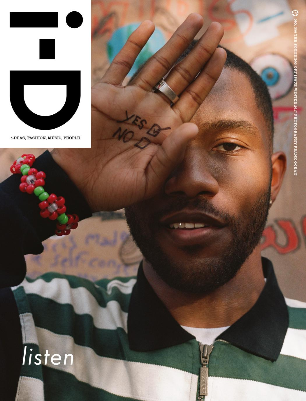Frank Ocean Curates Photo Essay + Rising Artists Feature Words in i-D Magazine