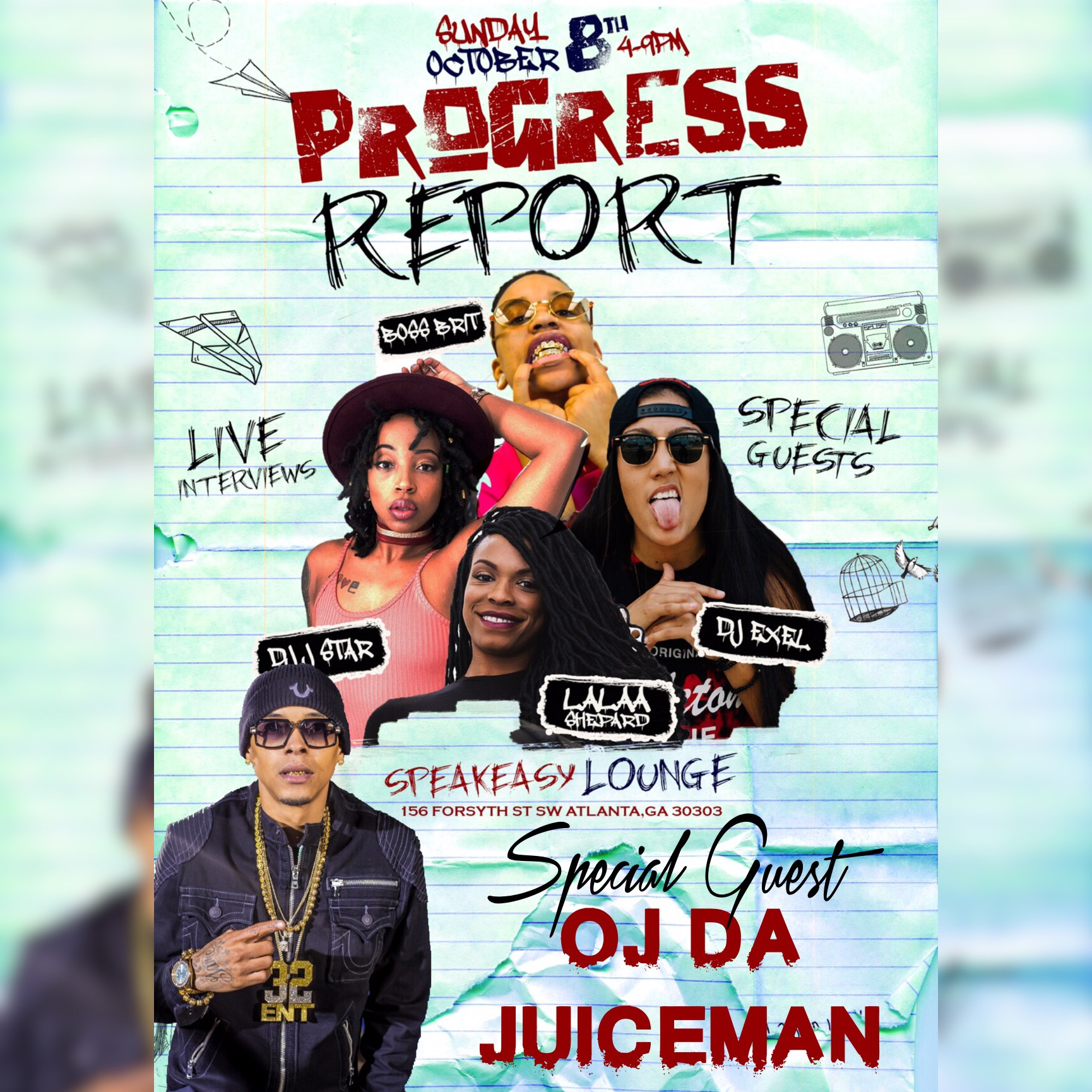 Catch OJ Da Juiceman + Many Other's Live In Concert Sunday, October 8th 4PM In ATL [The Progress Report Mini Concert]
