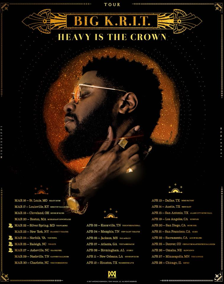 Big K.R.I.T. Announces 'Heavy Is the Crown Tour'