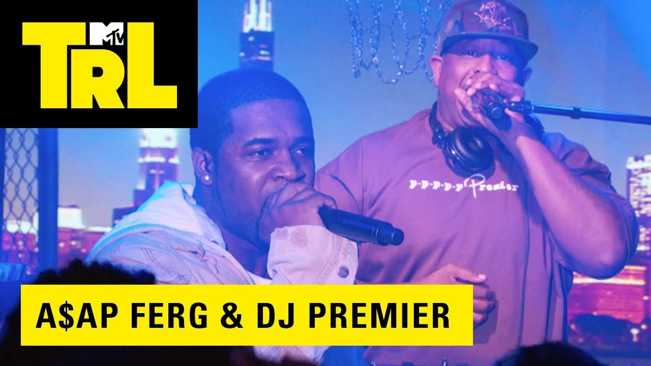 "Watch DJ Premier & A$AP Ferg Bring ""Our Streets"" To MTV's TRL For A Live Performance"