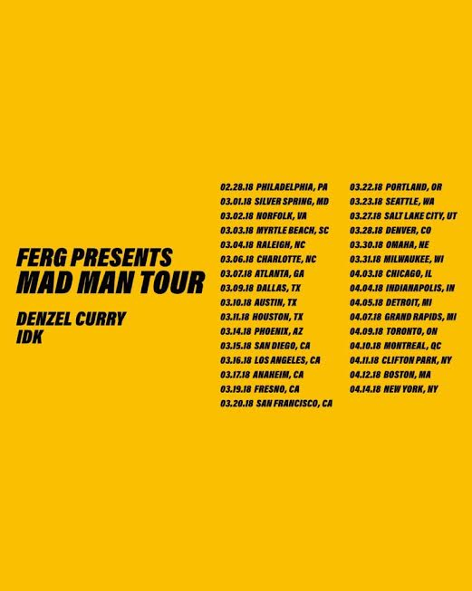 idk. Heads Out On Mad Man Tour with A$AP Ferg Next Month!